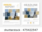 yellow vector annual report... | Shutterstock .eps vector #475422547