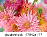 closeup of bouquet of zinnias ... | Shutterstock . vector #475426477