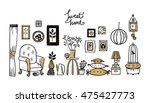set of vector icons for living... | Shutterstock .eps vector #475427773