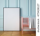 mockup poster in a child's room.... | Shutterstock . vector #475428127