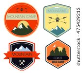 vector set of camping and... | Shutterstock .eps vector #475429213