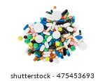 collection of colorful pills on