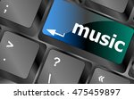computer keyboard with music... | Shutterstock .eps vector #475459897