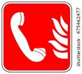 emergency fire telephone sign   ...
