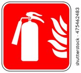 emergency fire extinguisher... | Shutterstock .eps vector #475462483