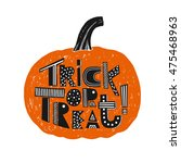 "hand drawn ""trick or treat""... 