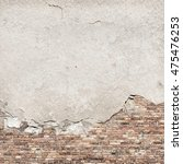 Old Concrete Plaster Brick Wal...