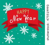 happy new year banner... | Shutterstock .eps vector #475519993