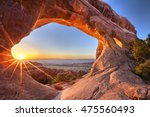 Sunrise At Partition Arch  In...