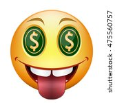 cartoon smiley with eyes as... | Shutterstock .eps vector #475560757