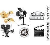 film industry   Shutterstock .eps vector #47557444