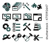 alter  modify  fix icon set | Shutterstock .eps vector #475592647
