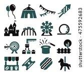 amusement park icon set | Shutterstock .eps vector #475592683