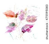 autumn leaves. watercolor... | Shutterstock . vector #475595083