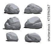 set of rocks and stones... | Shutterstock .eps vector #475596367