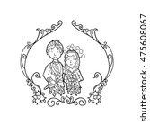 west java sundanese couple... | Shutterstock .eps vector #475608067