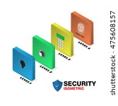 isometric security levels of... | Shutterstock .eps vector #475608157