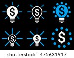 financial idea bulb glyph icons.... | Shutterstock . vector #475631917