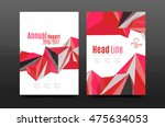 3d abstract geometric shapes.... | Shutterstock .eps vector #475634053