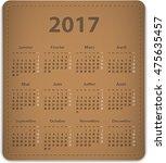calendar for 2017 year in... | Shutterstock .eps vector #475635457