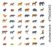 vector set figures of domestic  ... | Shutterstock .eps vector #475642603