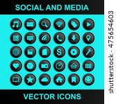 social and media vector icons | Shutterstock .eps vector #475654603