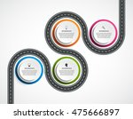 abstract road and street...   Shutterstock .eps vector #475666897