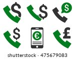 phone order glyph icons.... | Shutterstock . vector #475679083