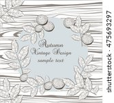 autumn vintage card with greek... | Shutterstock .eps vector #475693297