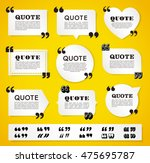 big set of vector quote... | Shutterstock .eps vector #475695787