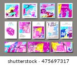 set of creative universal... | Shutterstock .eps vector #475697317