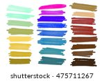 colored markers painted. raster ... | Shutterstock . vector #475711267