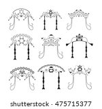 set of vintage graphic chuppah. ... | Shutterstock .eps vector #475715377