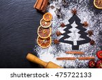 christmas cooking  fir tree... | Shutterstock . vector #475722133
