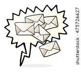 freehand drawn speech bubble... | Shutterstock . vector #475726627