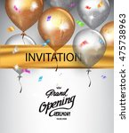 grand opening background with... | Shutterstock .eps vector #475738963