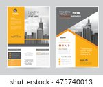 corporate brochure flyer design ... | Shutterstock .eps vector #475740013