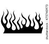 black tribal flames for tattoo... | Shutterstock .eps vector #475740973