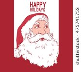 stylish christmas greeting card ... | Shutterstock .eps vector #475741753