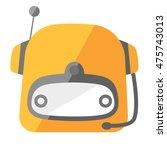 cute robot icon flat vector | Shutterstock .eps vector #475743013