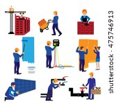 vector set of construction... | Shutterstock .eps vector #475746913