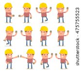 set of funny and cheerful... | Shutterstock .eps vector #475755523