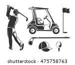 vector vintage golf elements...
