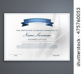 clean and modern diploma... | Shutterstock .eps vector #475760053