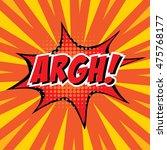argh   colorful speech bubble... | Shutterstock .eps vector #475768177