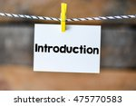 introduction.introduction on... | Shutterstock . vector #475770583