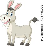 cartoon funny donkey | Shutterstock . vector #475786093