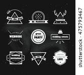 wedding labels. vector... | Shutterstock .eps vector #475793467