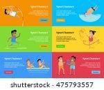sport banners set. artistic... | Shutterstock .eps vector #475793557