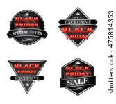 black friday sale badge... | Shutterstock .eps vector #475814353